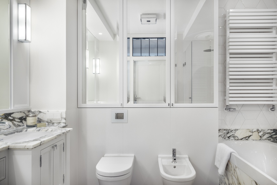 Inspirujemy Piękna łazienka Z Marmurem Gotowy Projekt