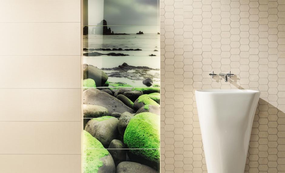 Kolor w łazience - soczyście zielone płytki (nowość)