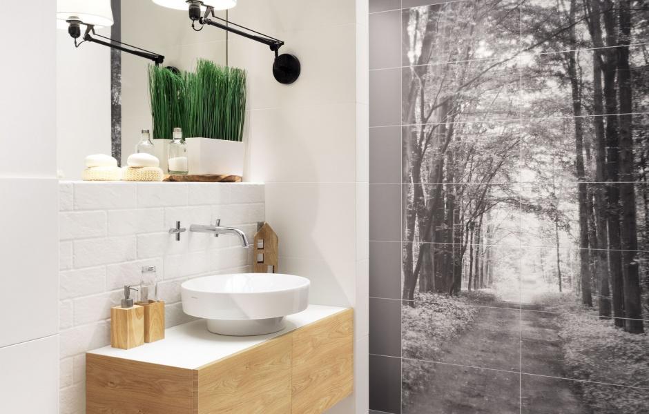 Radzimy Motyw Natury W łazience 3 Pomysły Na ścianę