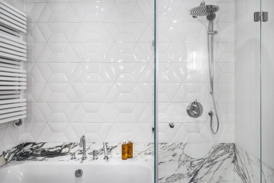 Łazienka w Sopocie - z ekskuzywnymi płytkami