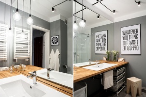 Szare ściany w łazience: 15 pomysłów z polskich domów