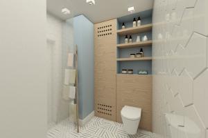 Nowoczesna łazienka w stylu skandynawskim - gotowy projekt