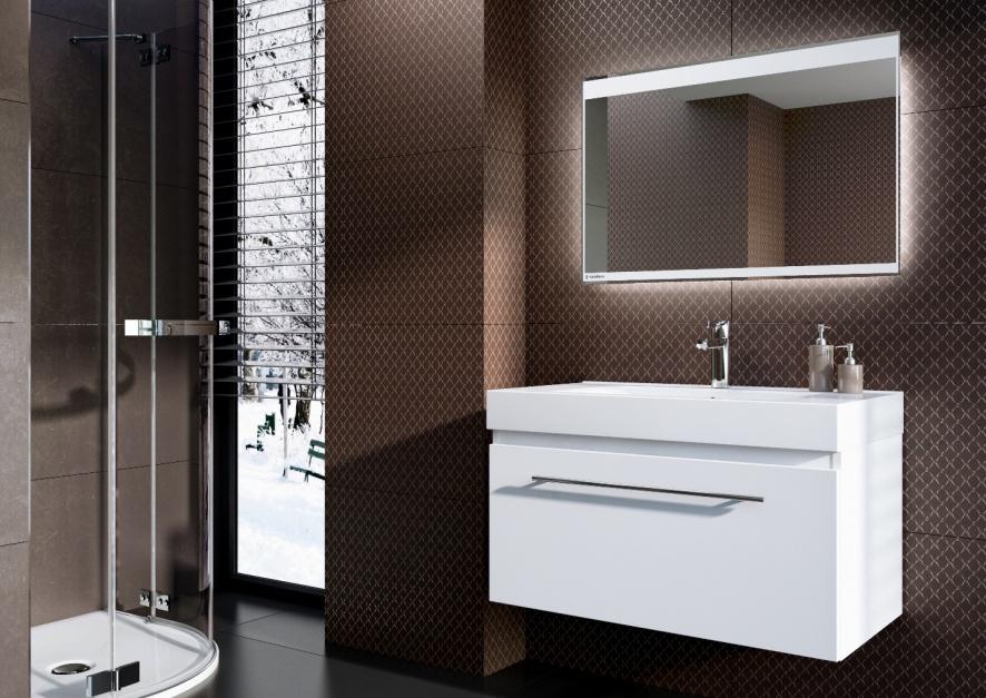 Aranżujemy Nowoczesna łazienka Lustra Z Oświetleniem Led