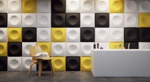 Geometria w łazience: oryginalne panele ścienne