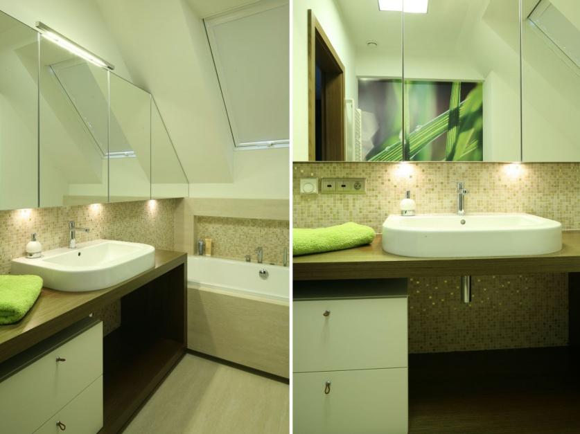 Lustrzane szafki: sposób na powiększenie małej łazienki