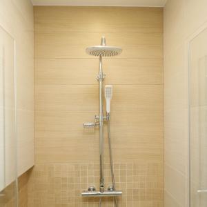 Łazienka dla rodziny: gotowy projekt z fototapetą