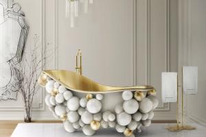Luksusowa łazienka: dizajnerska wanna jak... atom