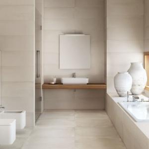 Beżowa łazienka: 12 kolekcji płytek ceramicznych