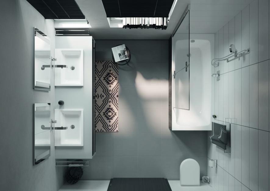 Rozwiązania opracowane do małych łazienek
