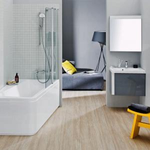 Szare meble łazienkowe: zobacz modne kolekcje