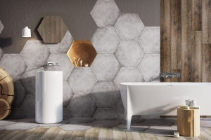 Geometria w łazience: płytki ceramiczne zainspirowane filozofią Zen