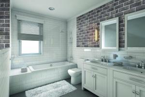 Cegła w łazience: tak urządzisz modne wnętrze