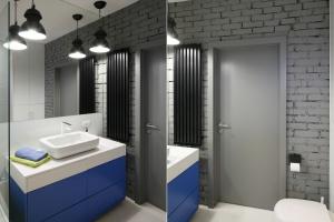 Cegła na ścianie - zobacz inspirujące zdjęcia łazienek