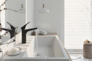 Czerń i srebro - nowa, piękna seria baterii łazienkowych [podajemy ceny!]