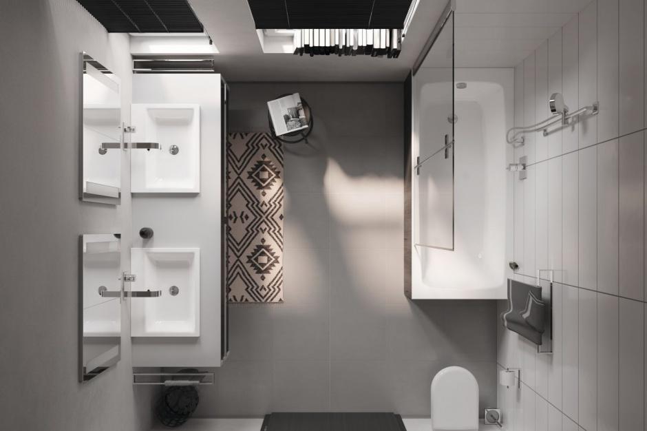 Pomysł na małą łazienkę: aranżacja z wanną z parawanem
