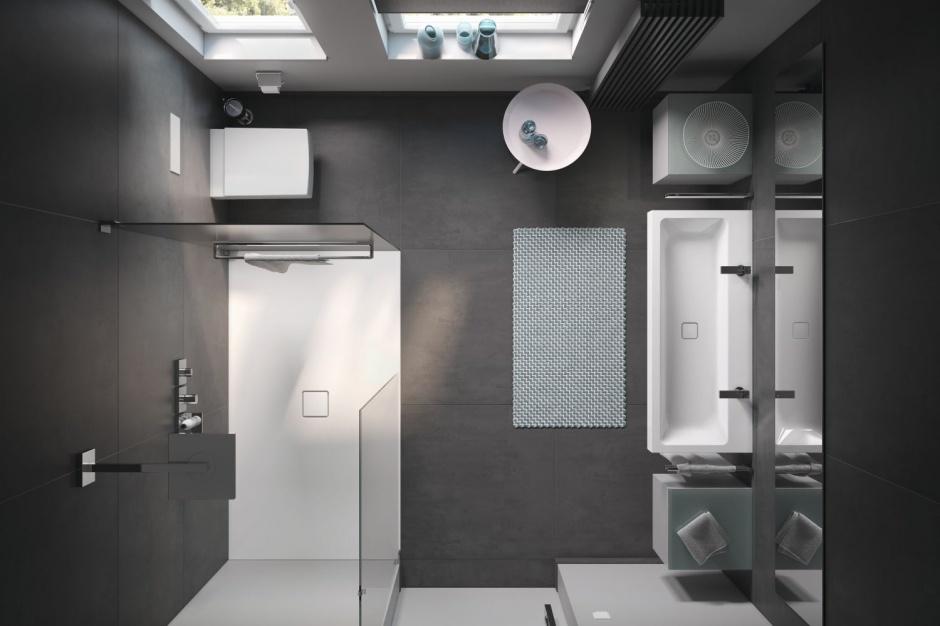 Łazienka dla dwojga: pomysł na mały metraż