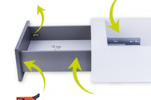 Przechowywanie w łazience: praktyczny system szuflad