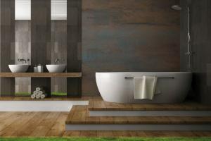Ściana w łazience: postaw na piękne panele z żywicy i kompozytu