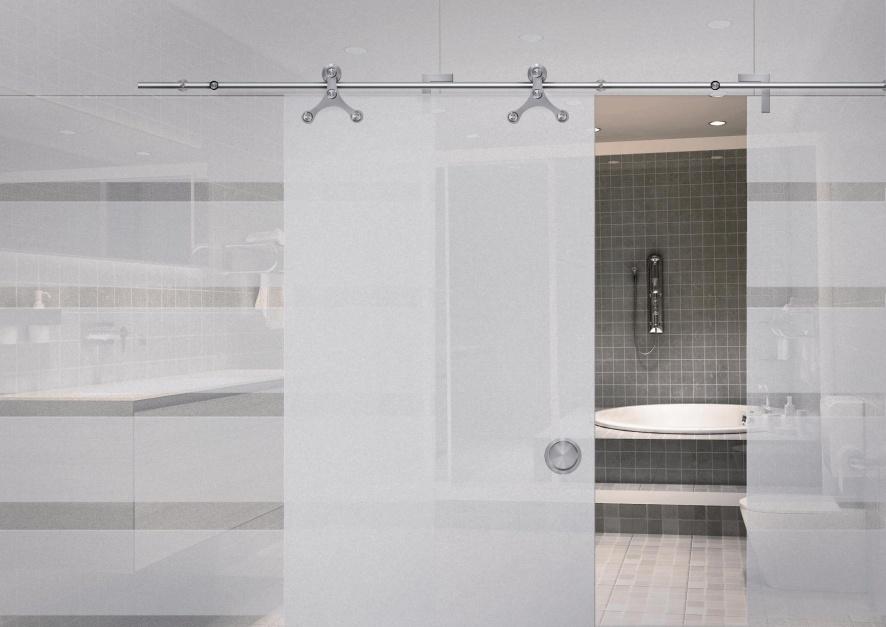 Drzwi do łazienki (i w łazience): postaw na systemy przesuwne
