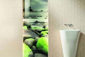 Łazienka w kolorach natury: piękne kolekcje płytek ceramicznych