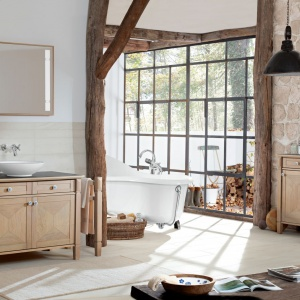 5 pomysłów na łazienkę w stylu rustykalnym