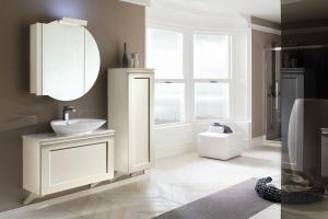 Meble łazienkowe: piękna kolekcja z dekoracyjnymi frontami