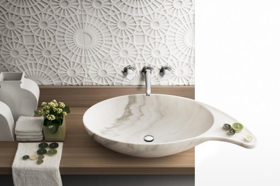 Design w łazience: zobacz kamienną umywalkę z onyksu