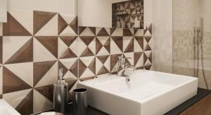 Geometryczne motywy w łazience - to jest modne!