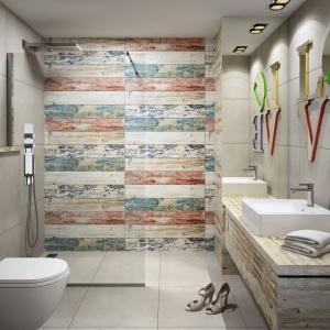 Łazienka w stylu loft: pomysł na aranżację w kolorze