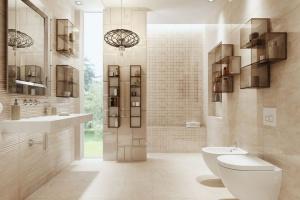 Nowoczesna łazienka: postaw na szklane regały podwieszane