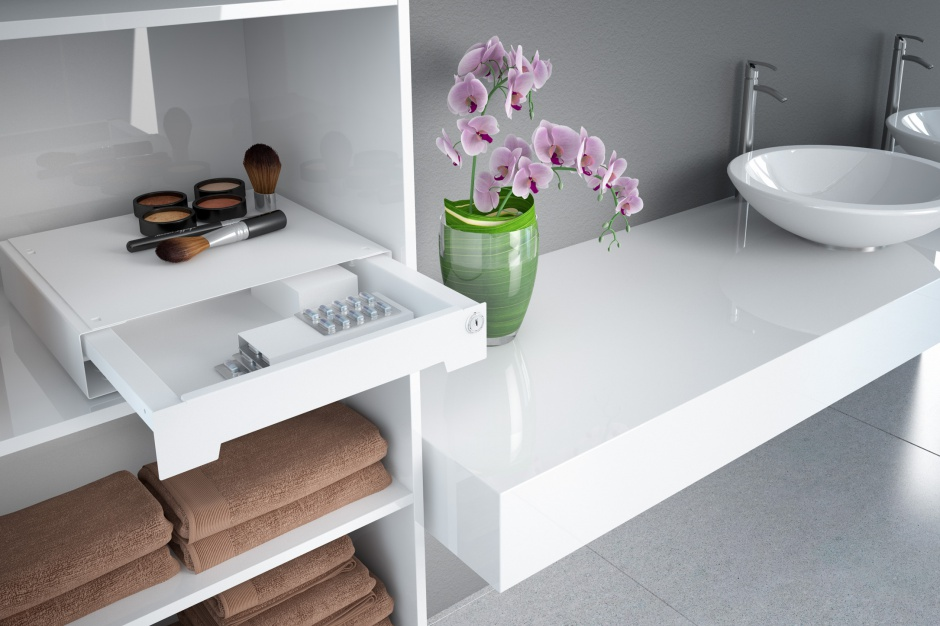 Przechowywanie w łazience: inteligentna skrytka