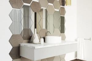 Ściana w strefie umywalki - garść inspiracji