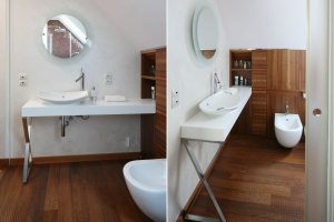 Łazienka w kolorach ziemi: piękne zdjęcia z polskich domów