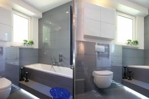 Zabudowa meblowa w łazience: pomysły na górne szafki