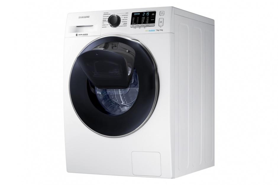 Wyposażenie małej łazienki: pralka i suszarka w jednym