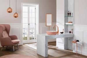 Kolor w łazience: świetne pomysły na róż