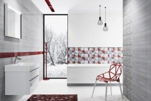 Nowoczesna łazienka: postaw na geometryczne motywy