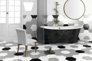 Płytki ceramiczne: modne kolekcje w czerni i bieli