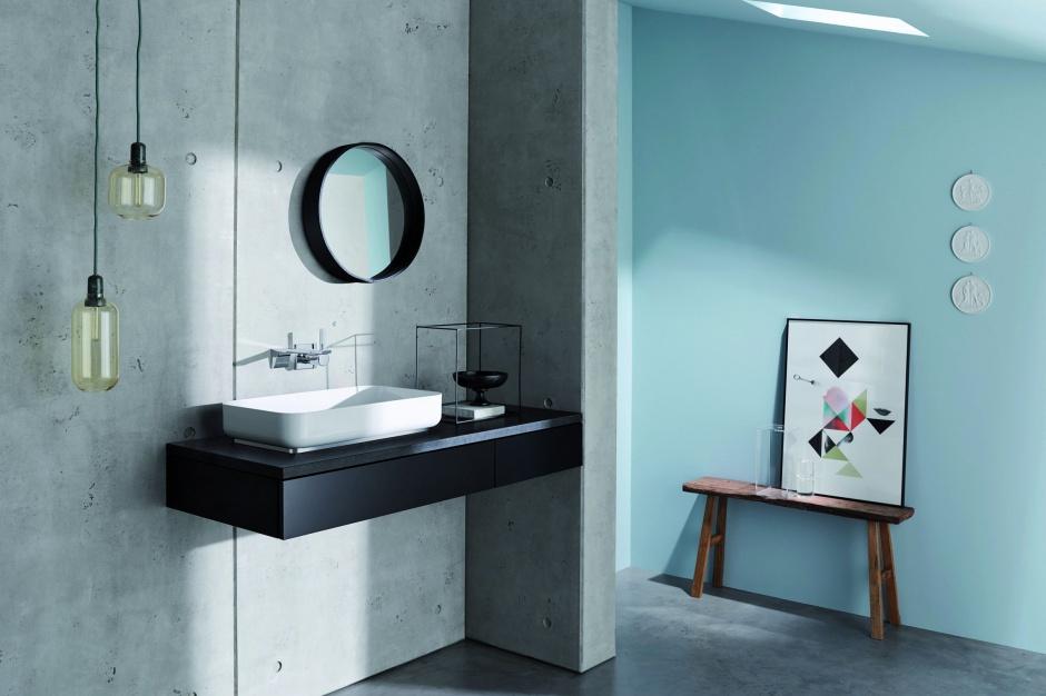 Modna strefa umywalki: elegancki model z glazurowanej stali