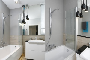 12 pomysłów na szare ściany w łazience