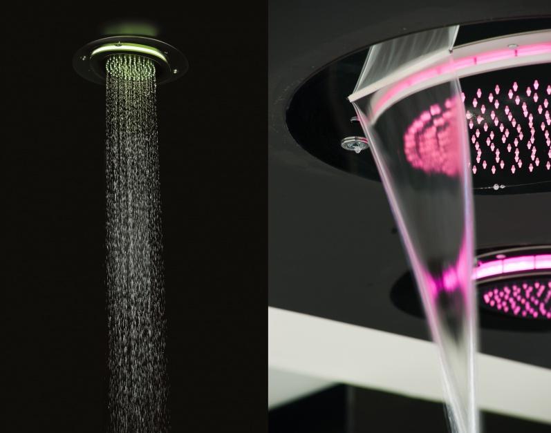 Relaks pod prysznicem: głowice z chromoterapią