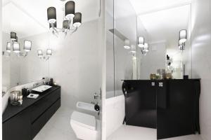 Oświetlenie w łazience: wybierz elegancką czerń