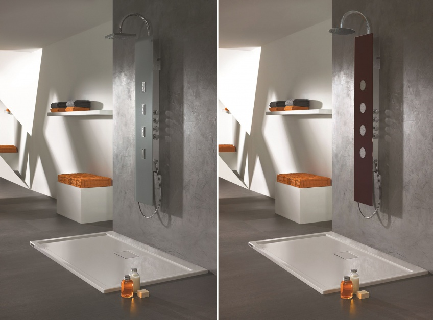 Relaks w łazience: panel natryskowy z hydromasażem
