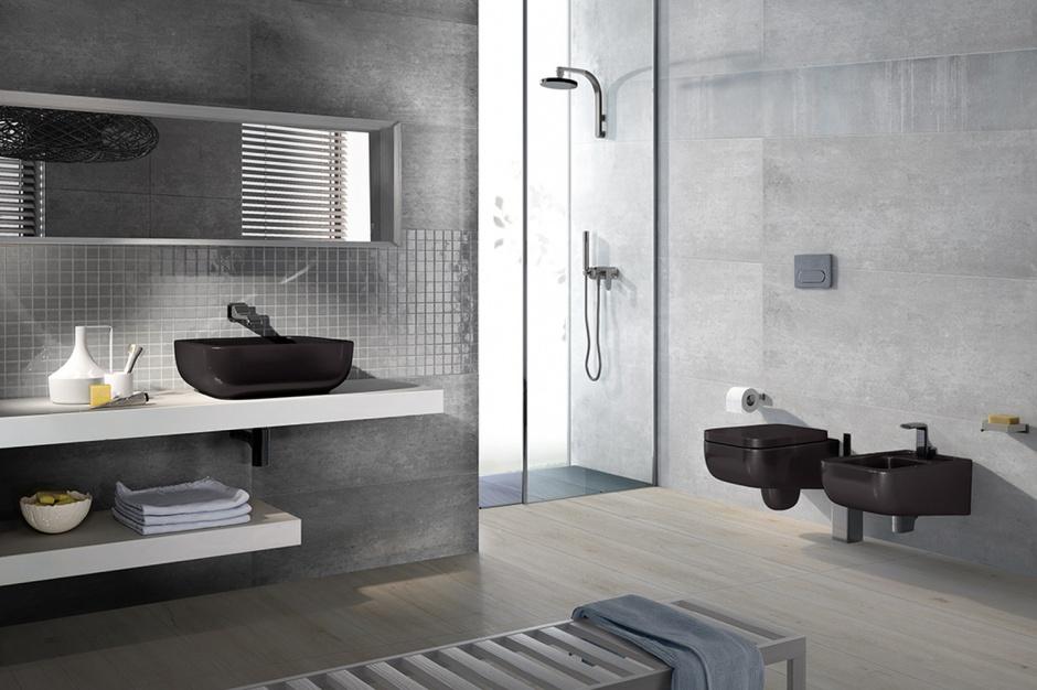 Łazienka w stylu loft - nowa seria płytek ceramicznych