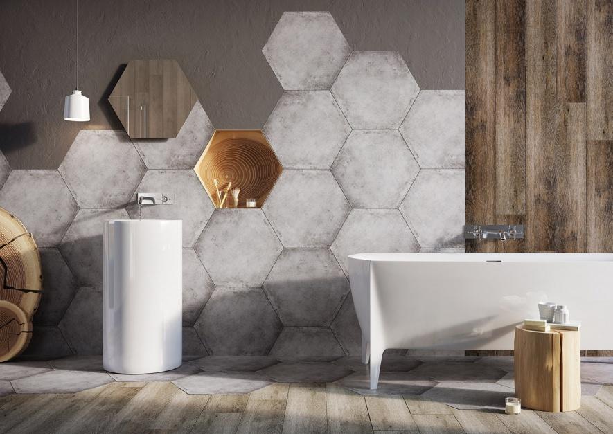 Aranżujemy Heksagonalne Płytki W łazience 5 Kompletnie