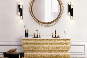 5 pomysłów na złoto w łazience
