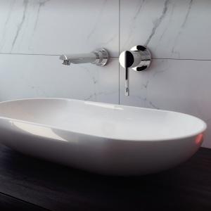 Nowoczesna łazienka: umywalkowa bateria podtynkowa