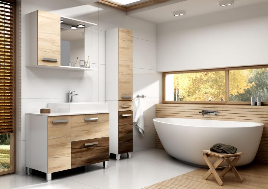 Meble łazienkowe: kolekcje na praktycznych nóżkach