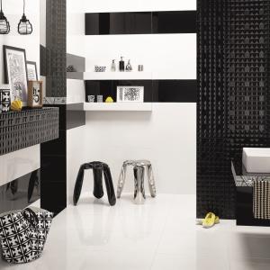 Czarno-biała łazienka: 10 serii modnych płytek