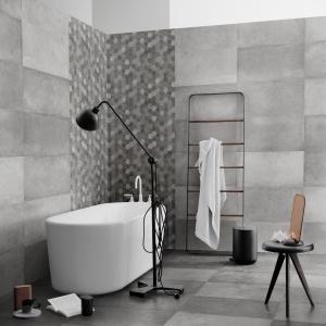 Płytki jak beton: 10 kolekcji do łazienek